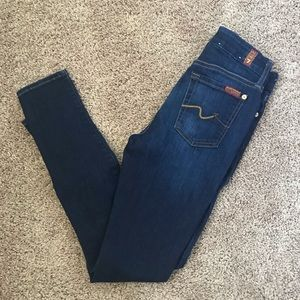 7 for all mankind the mid rise ankle skinny 25